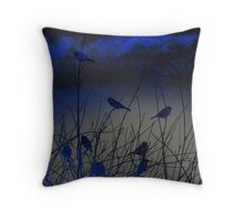 Nightmist In Blue Throw Pillow