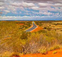 The road to Uluru by Geoffrey Thomas