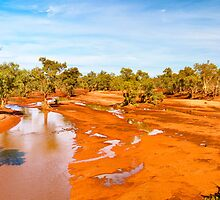 The Finke River dries out by Geoffrey Thomas