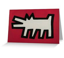 Keith Haring Dog Greeting Card