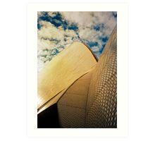 Opera House and stippled sky #1 Art Print
