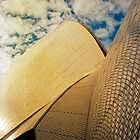 Opera House and stippled sky #1 by Juilee  Pryor