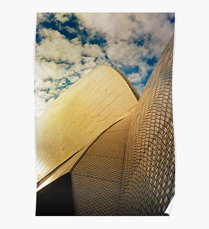 Opera House and stippled sky #1 Poster