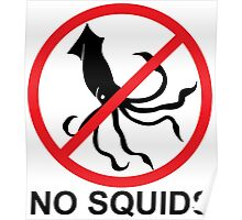 No Squids Poster