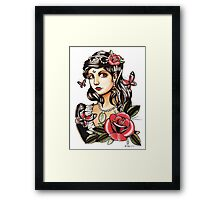 Butterfly Girl - tattoo Framed Print