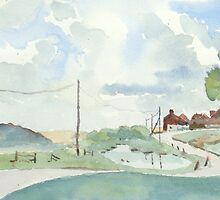Norfolk Coast at Salthouse, by Nick Clark by HurstPainters