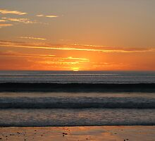 Silver Sands Sunset by Kirsten Mathew