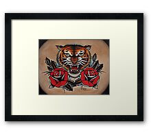 Tiger - TATTOO Framed Print