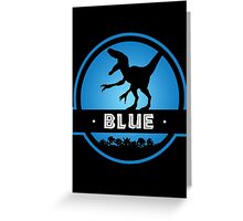 Velociraptor Blue Squad Greeting Card