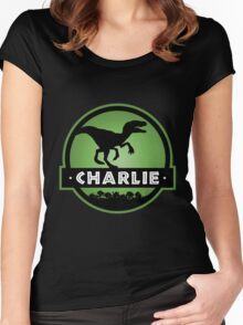 Velociraptor Charlie Squad Women's Fitted Scoop T-Shirt