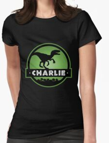 Velociraptor Charlie Squad Womens Fitted T-Shirt