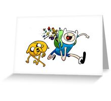 Adventures With Finn and Jake Greeting Card