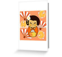 KOKESHI MOMO Greeting Card