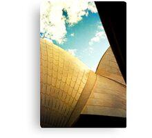 Opera House and stippled sky #2 Canvas Print