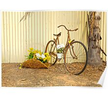 Really Rustic Old Bicycle..... Poster