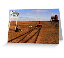 Is This The Train. Greeting Card