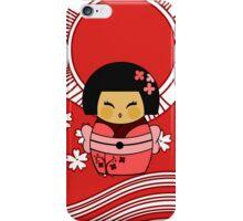Kokeshi Sakura iPhone Case/Skin