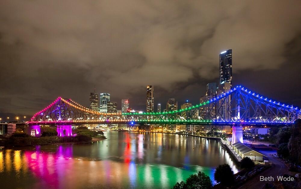The Rainbow Bridge - Brisbane Qld Australia by Beth  Wode