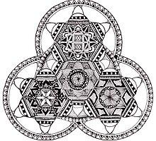 Triangle Mandala tribal meditation by Stefan Carbonaro