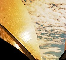 Opera House and stippled sky #3 by Juilee  Pryor