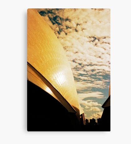 Opera House and stippled sky #3 Canvas Print