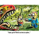 Dinosaur Cartoon by Matt Bissett-Johnson