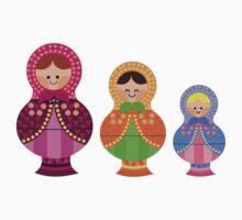 Matrioskas 2 (Russian dolls 2) One Piece - Short Sleeve