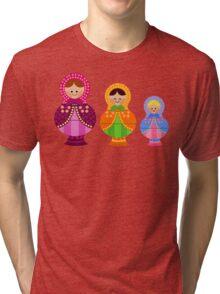 Matrioskas 2 (Russian dolls 2) Tri-blend T-Shirt