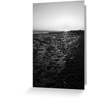Sunset at Cudmore Grove, East Mersea, Essex, England Greeting Card