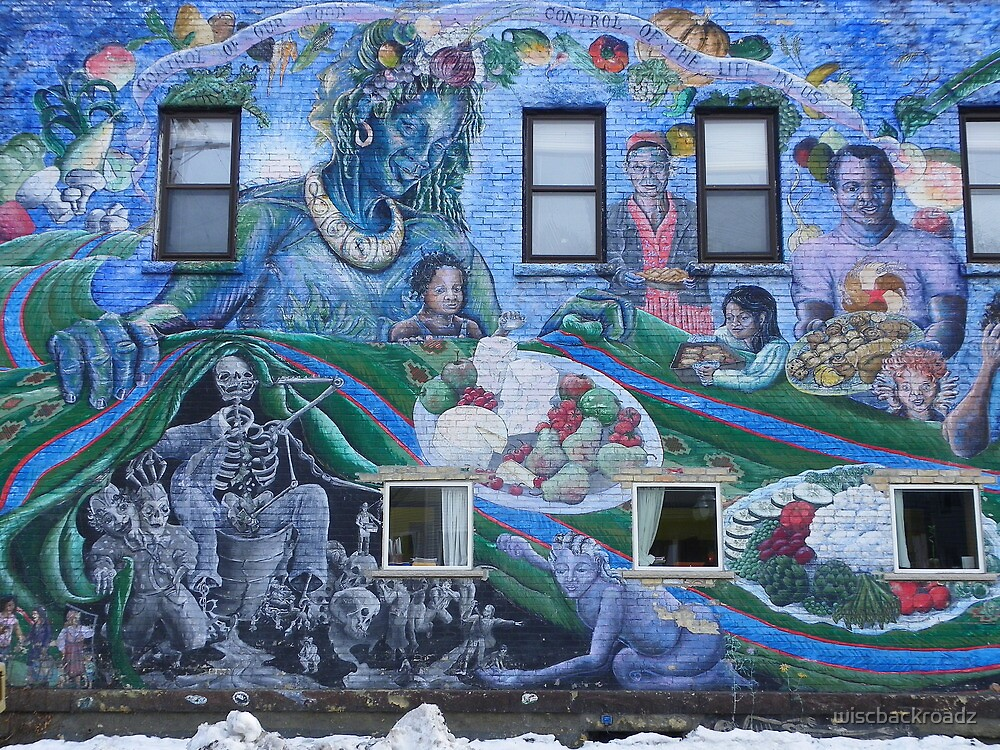 The Loving Grace of Mother Earth...a spectacular mural by wiscbackroadz