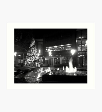 Christmas in the Square. Art Print