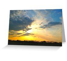 Sunset over Gosbecks Archaeological Park II Greeting Card