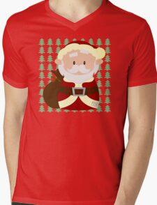 Santa Mens V-Neck T-Shirt