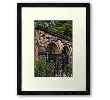 Alnwick Gardens, walled garden gateway Framed Print