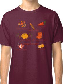Colors: orange (Los colores: naranja) Classic T-Shirt