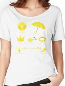 Colors: yellow (Los colores: amarillo) Women's Relaxed Fit T-Shirt