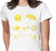 Colors: yellow (Los colores: amarillo) Womens Fitted T-Shirt