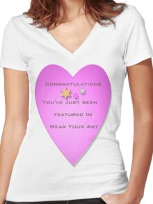Congratulations  Women's Fitted V-Neck T-Shirt