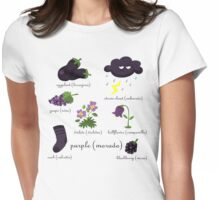 Colors: purple (Los colores: morado) Womens Fitted T-Shirt