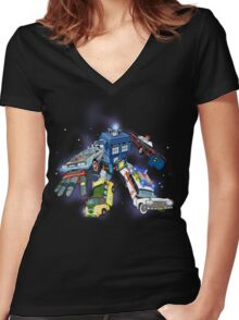 Defender of the Nerdverse Women's Fitted V-Neck T-Shirt