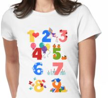 Numbers Womens Fitted T-Shirt