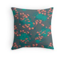 Medusa / Crazy Jellyfish Blue Atoll Throw Pillow