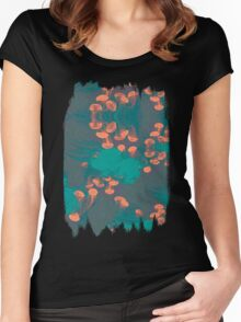 Medusa / Crazy Jellyfish Blue Atoll Women's Fitted Scoop T-Shirt