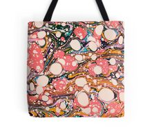 Psychedelic Retro Marbling Paper Tote Bag