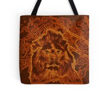 Wooden Lion Watching Over Its Kingdom  Tote Bag