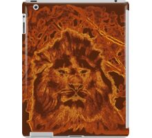 Wooden Lion Watching Over Its Kingdom  iPad Case/Skin