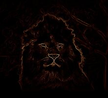 Black Lion Touched By Gold by MissBeloved