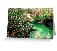 THE MAGICAL GARDEN** ITS A WONDERFUL WORLD ..LOUIE ARMSTRONG Greeting Card