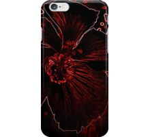 Fury Red Exotic Flower iPhone Case/Skin
