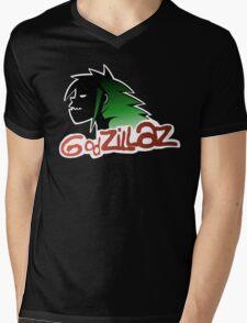 Godzillaz Mens V-Neck T-Shirt